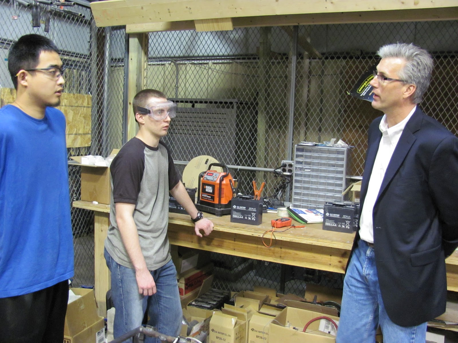 Visit to Lansing Electric Motors and our meeting with John Nathan of Lear